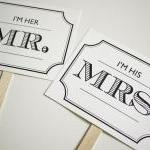 Vintage Design - Mr and Mrs..