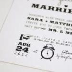 1950's Retro - Wedding Invitation (..