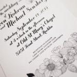 Modern Black and White Wedd..