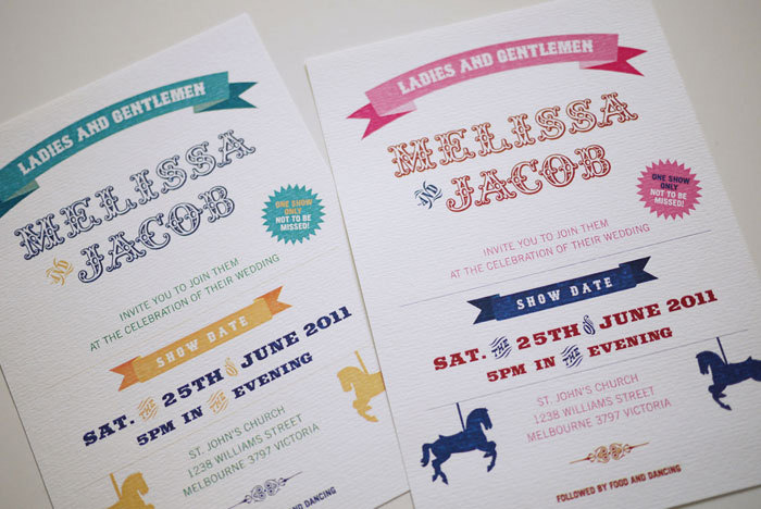 Circus Carnival - Wedding Invitation (PRINTABLE)