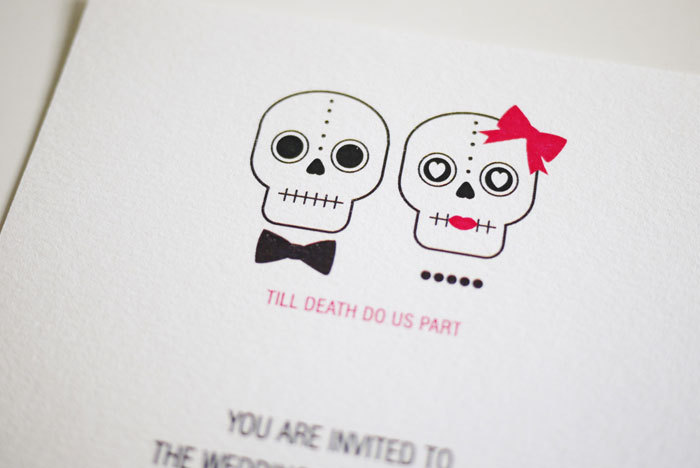 Till Death Do Us Part - Wedding Invitation (PRINTABLE)