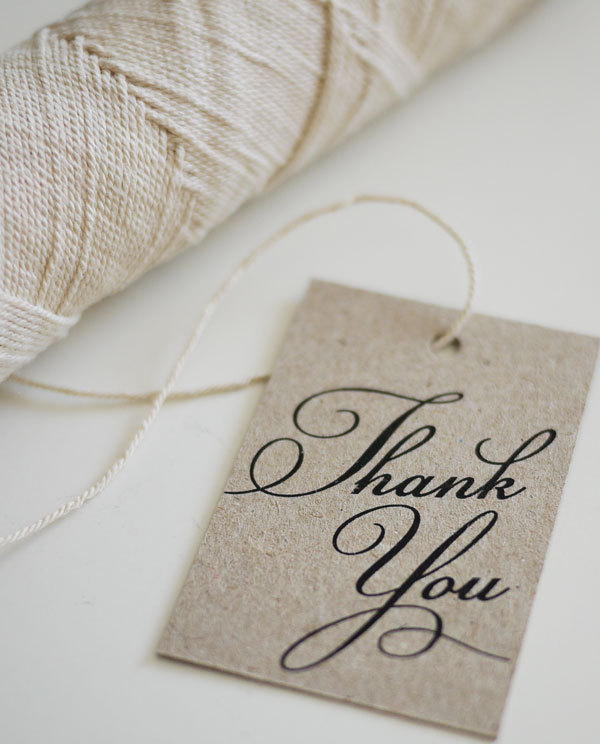 Thank You - Favor Tags (PRINTABLE) on Luulla