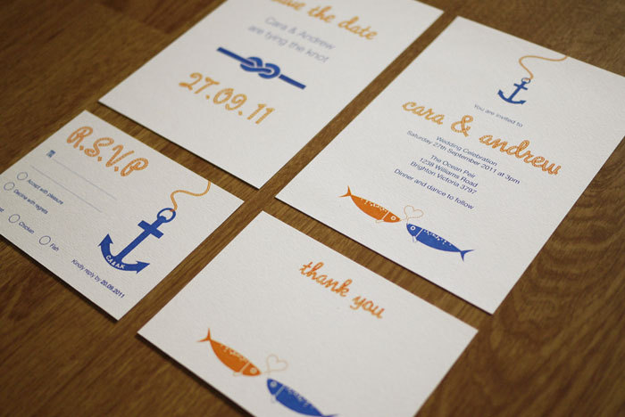 At Sea - Wedding Stationery Set (PRINTABLE) - Set of 4