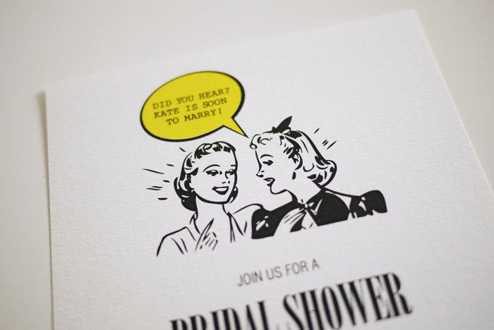 1950's Retro - Bridal Shower Invitation (PRINTABLE)
