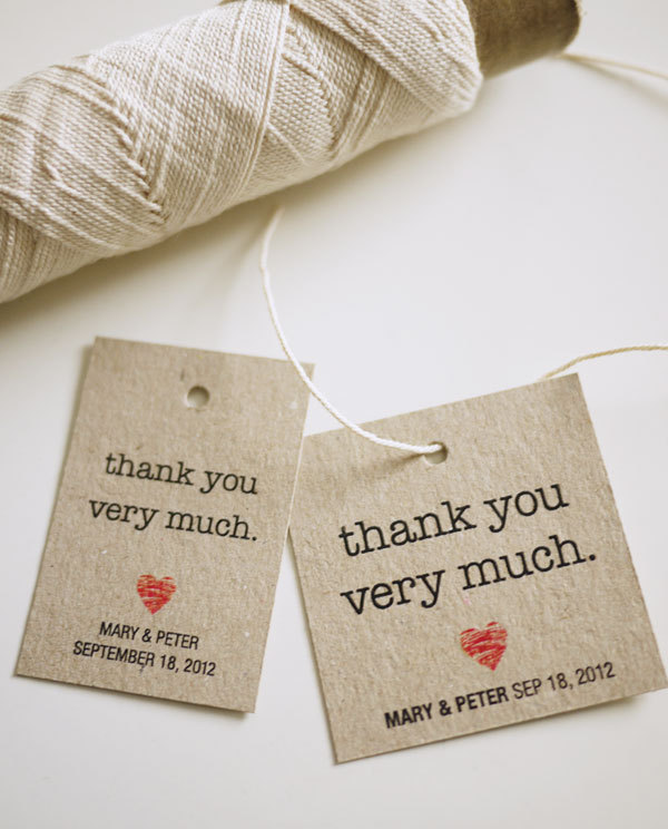 Personalized Favor Tags (PRINTABLE): Thank You Very Much on Luulla