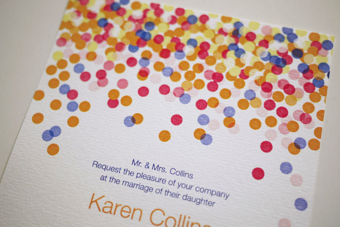Colorful Confetti- Wedding Invitation (PRINTABLE)
