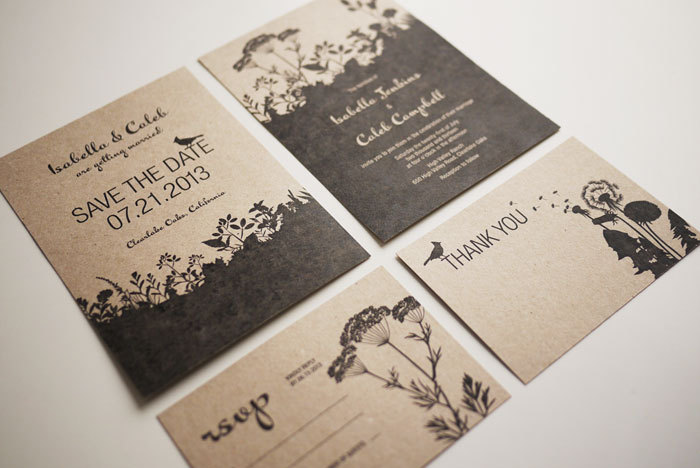 Nature Themed Wedding Invitations Nature Wedding Invitation Set PRINTABLE Set Of 4 On