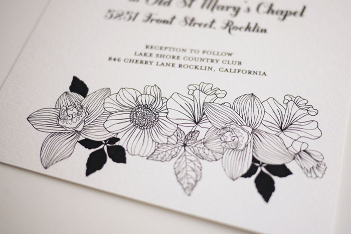 Modern Black and White Wedding Invitation ( DIY Printable Template)