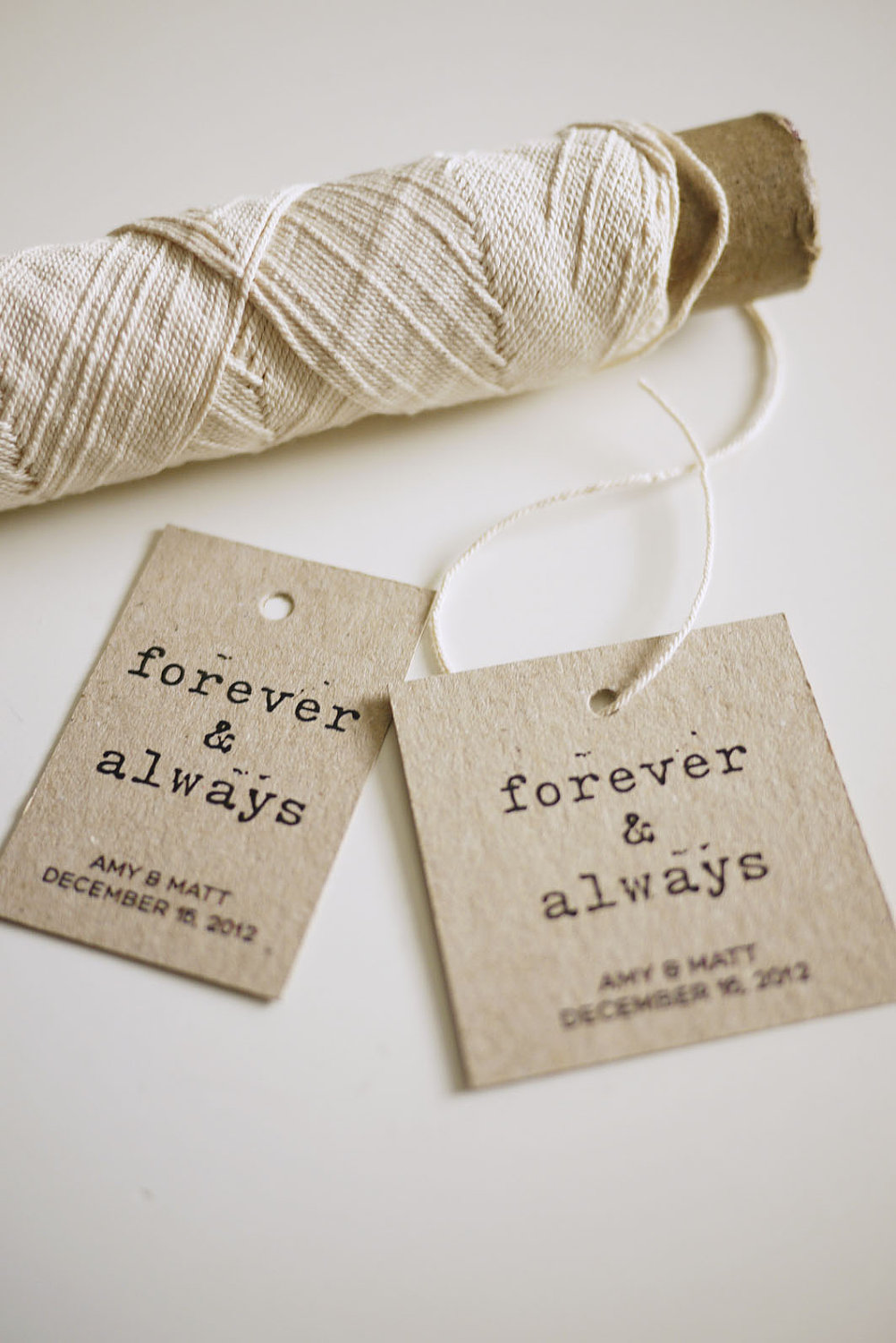 Forever And Always - Personalized Favor Tags (PRINTABLE) on Luulla